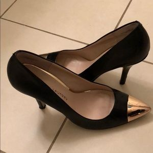 Chinese laundry heels with gold toe